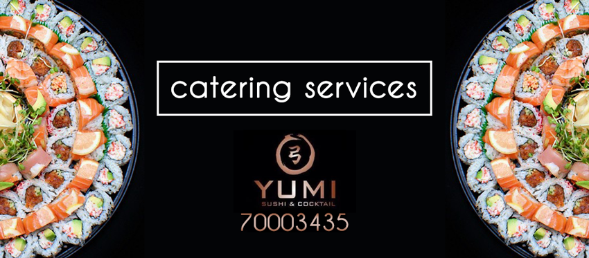 Catering Υπηρεσία από το Yumi Sushi and Cocktail Bar