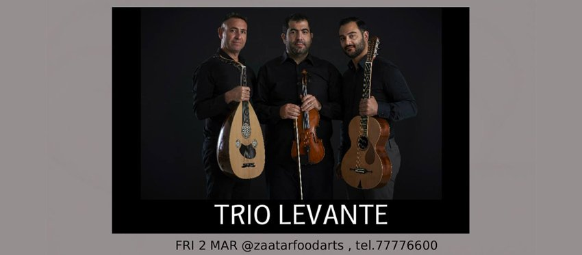 Trio Levante at Zaatar Food and Arts