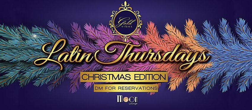 Latin Thursdays at Moon Lounge Bar - Pre Xmas Party