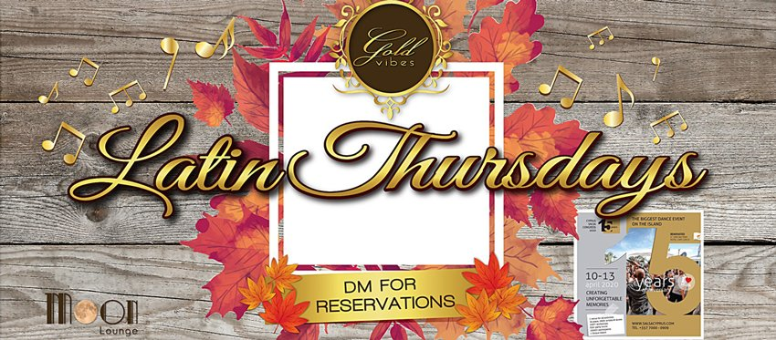 Latin Thursdays at Moon Lounge Bar Cyprus - Salsa Congress Promo Party