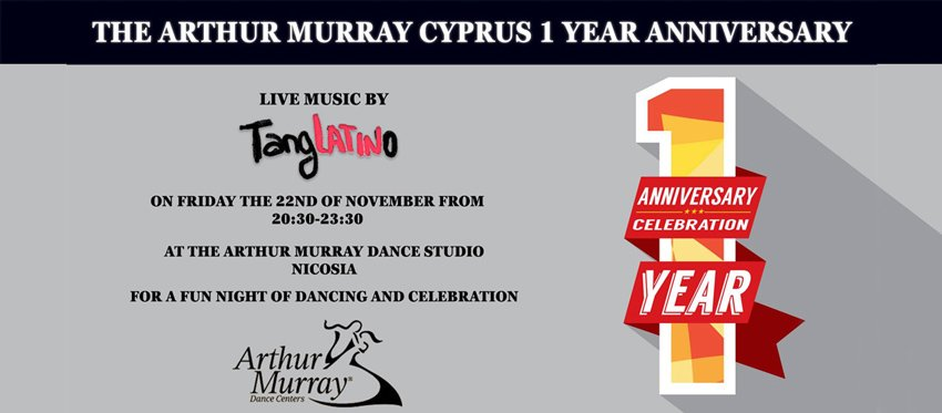 Arthur Murray Cyprus Dance Studio 1 Year Anniversary