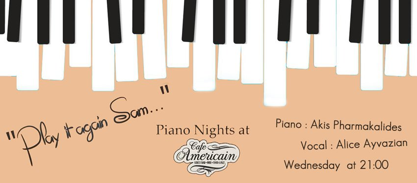 Wednesday Piano Live at Cafe Americain