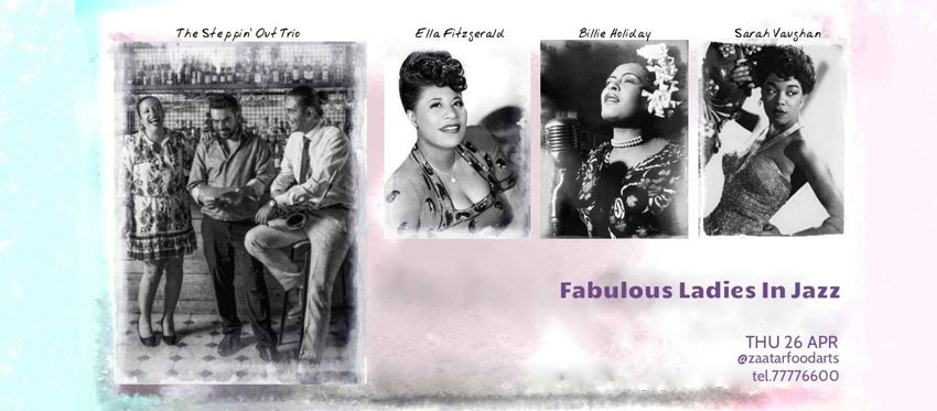 Fabulous Ladies in Jazz: Billie Holiday, Ella Fitzgerald & Sarah